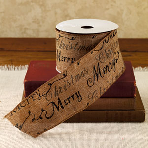 quick view - Burlap Christmas Ribbon